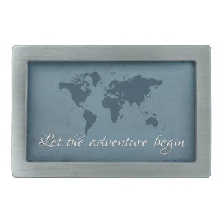 Let the adventure begin belt buckle