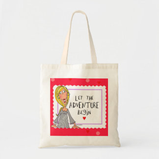 Let the Adventure begin Budget Tote Bag