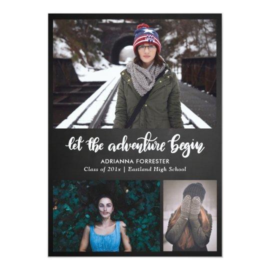 Let The Adventure Begin Chalkboard | Graduate Card