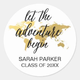 Let the adventure begin custom grad sticker