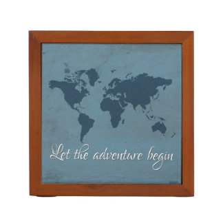 Let the adventure begin desk organiser