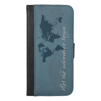 Let the adventure begin iPhone 6/6s plus wallet case