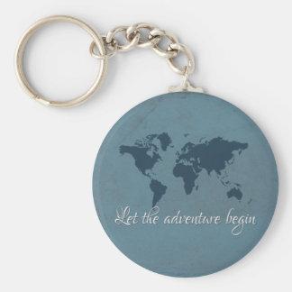 Let the adventure begin key ring