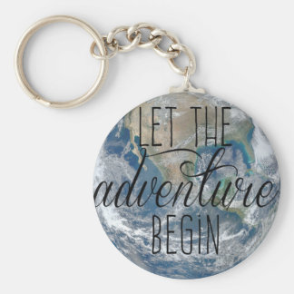 Let the adventure begin Mug, Quote Key Ring