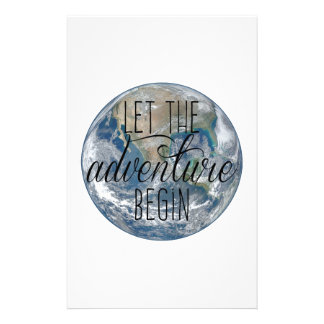 Let the adventure begin Mug, Quote Stationery