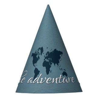 Let the adventure begin party hat