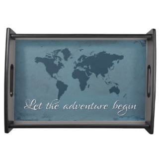 Let the adventure begin serving tray