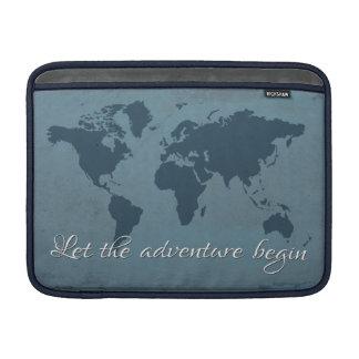 Let the adventure begin sleeve for MacBook air