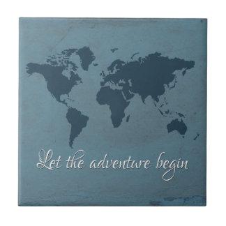 Let the adventure begin tile