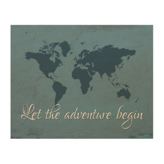 Let the adventure begin wood wall decor