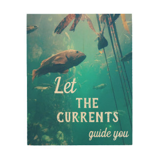 Let the Currents Guide You Wood Block Wood Wall Decor