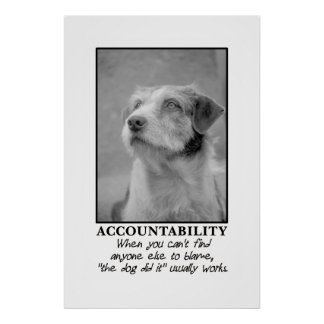 Let the dog take the blame for your farts [XL] Poster