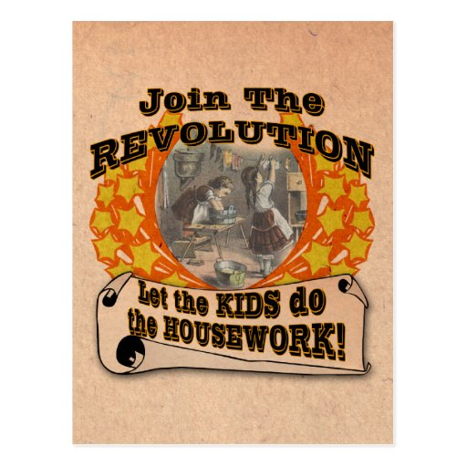 Let the Kids do the Work Post Card