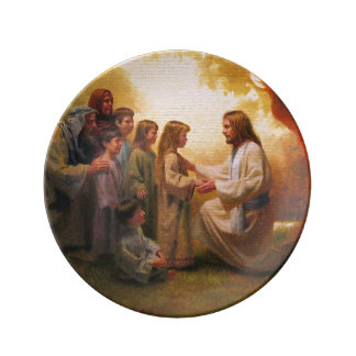 Let The Little Children Come to Me Porcelain Plate