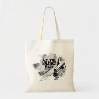 Let The Music Play Vinyl Record Design Tote Bag