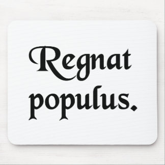 Let the People rule. Mousepad