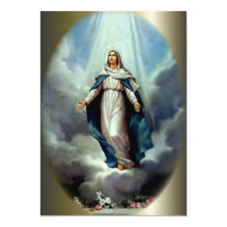 Let the Perpetual Light Shine Upon Virgin Mary 13 Cm X 18 Cm Invitation Card