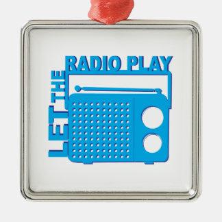 Let the Radio Play Christmas Tree Ornament