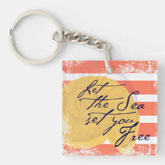 Let the Sea Set You Free Key Ring