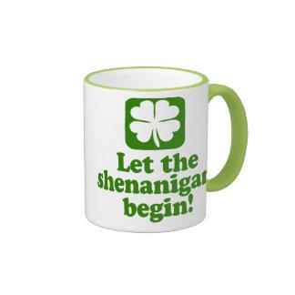 Let The Shenanigans Begin Coffee Mugs
