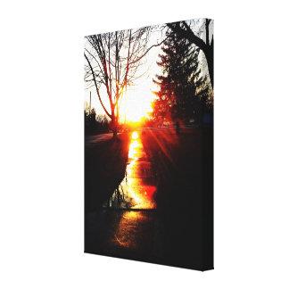 LET THE SUN LIGHT YOUR PATH canvas Canvas Print