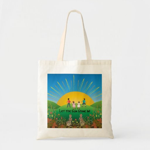 Let the Sun Shine In! Canvas Tote Tote Bags