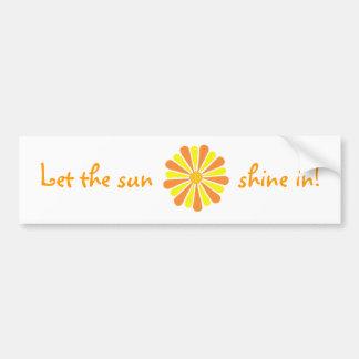 Let the sun shine in! Orange Yellow Burst stickers Car Bumper Sticker