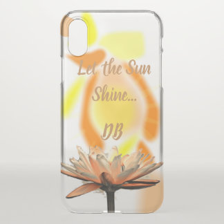 Let the Sunshine Flower Personalized iPhone X Case