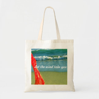 """Let the wind take you"" tote bag"
