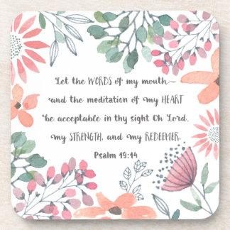 Let the Words of my Mouth - Ps 19:14 Coaster