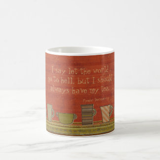 Let the World Go Rusty Red Stripes Mug