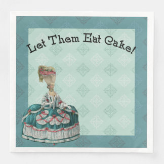 Let Them East Cake Paris Fashion Paper Napkins