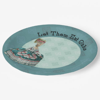 Let Them East Cake Paris Fashion Paper Plate