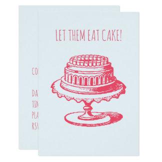 Let Them Eat Cake Birthday Party Invitations