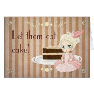 Let them eat cake! card