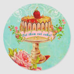 Let Them Eat Cake Holiday Party Seals Classic Round Sticker