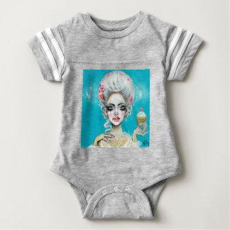 Let them eat cake mini Marie Antoinette cupcake Baby Bodysuit