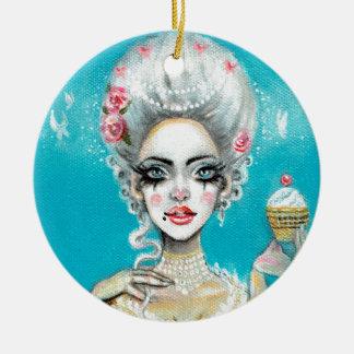 Let them eat cake mini Marie Antoinette cupcake Ceramic Ornament