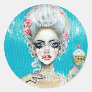 Let them eat cake mini Marie Antoinette cupcake Classic Round Sticker
