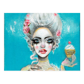 Let them eat cake mini Marie Antoinette cupcake Postcard