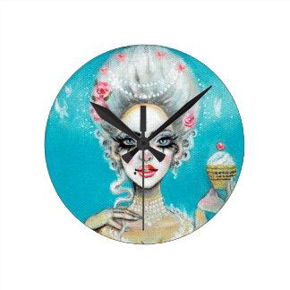 Let them eat cake mini Marie Antoinette cupcake Round Clock