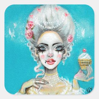 Let them eat cake mini Marie Antoinette cupcake Square Sticker