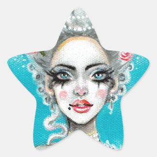 Let them eat cake mini Marie Antoinette cupcake Star Sticker