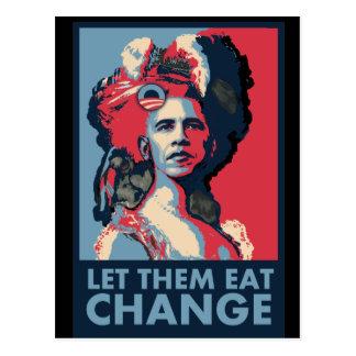 Let Them Eat Change, Cake, whatever.... Postcard
