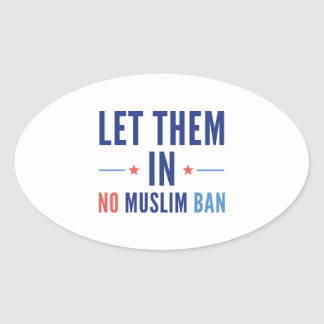 Let Them In Oval Sticker