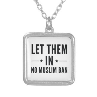 Let Them In Silver Plated Necklace