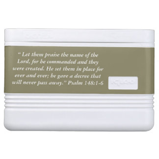 """""""Let them Praise"""" Scripture Igloo 12 Can Cooler"""