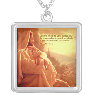 Let them Praise the name of the Lord....Psalm:148 Silver Plated Necklace