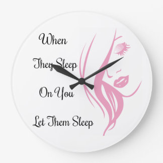 Let Them Sleep Large Wall clock