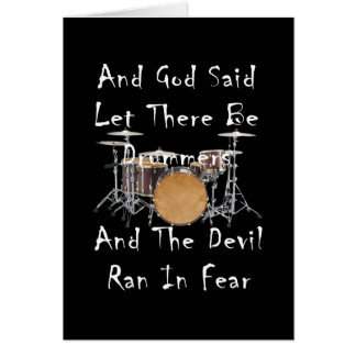 Let there Be Drummers Card